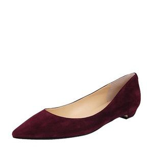 Iva is Trump red/burgundy Suede Flats